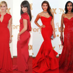 All of the red dresses at the Emmys Red Dresses 150x150