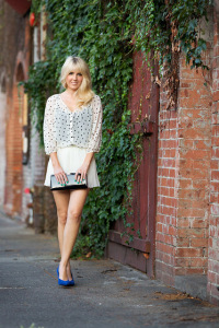 What to Wear on a First Date: Pleats and Sheer Polka Dots