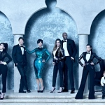 Kardashian Christmas card 2012 Kim Khloe Lamar Kourtney and cute Mason super fancy outfit 150x150