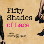 Fifty Shades of Lace Savvy Spice how to add romantic style post lace shorts black heels printed tights 150x150
