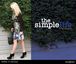Paris VS. Nicole Plus a 'Simple Life' Flashback in Peacock Print
