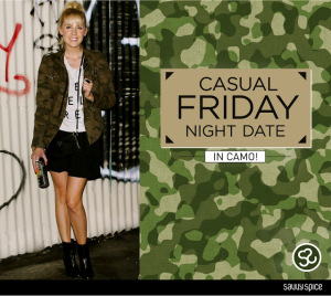 Casual Friday Night Date In Camouflage
