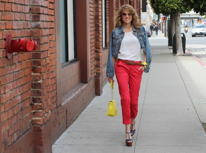 How to Work the Color Wheel in Cherry Capris - Savvy Spice