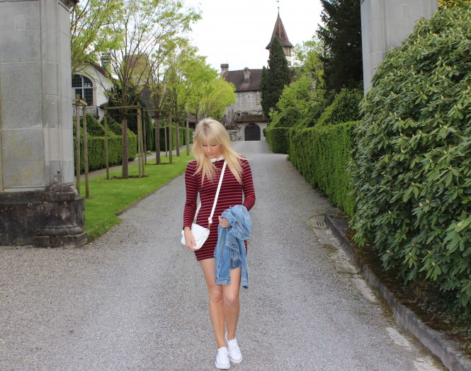Savvy Spice fashion blog, Dale Janee Steliga, how to wear stripes, Lacoste