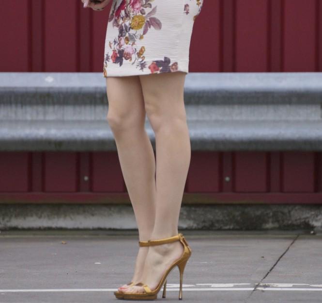 Savvy Spice metallic heels