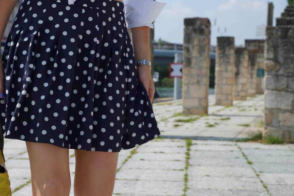 Polka Dot Skirt Dale Janee Navy Blue Savvy Spice