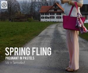 pastel pink Zara pants
