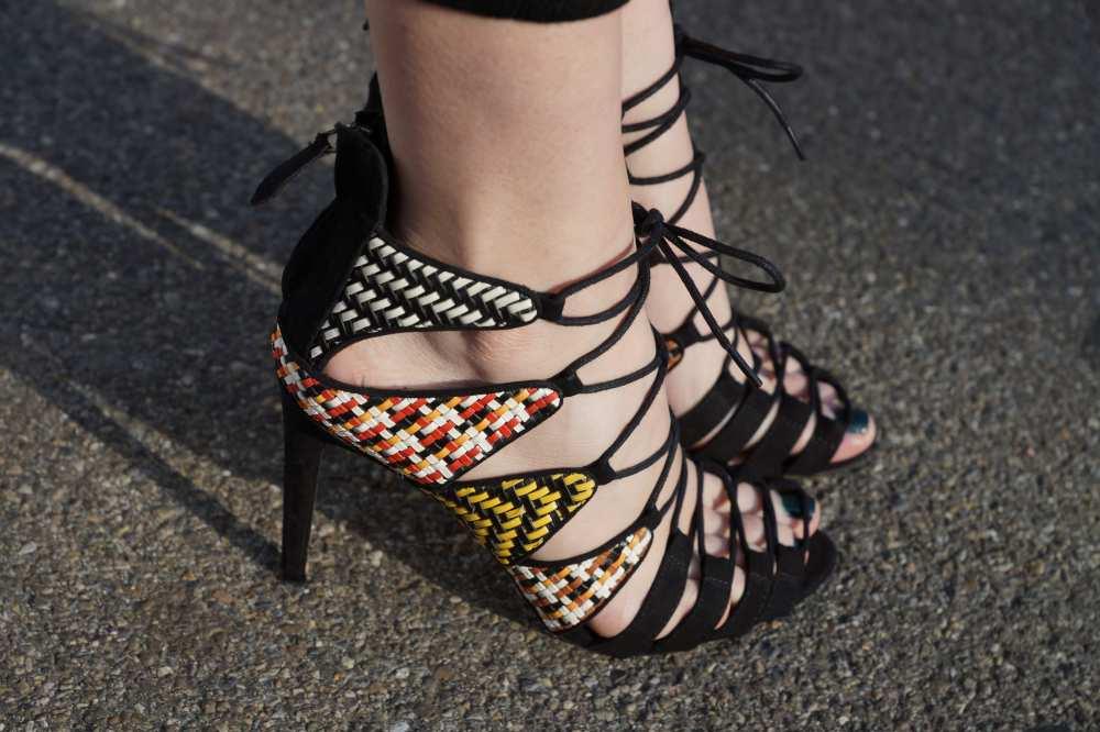 Zara lace up heels Dale Janee
