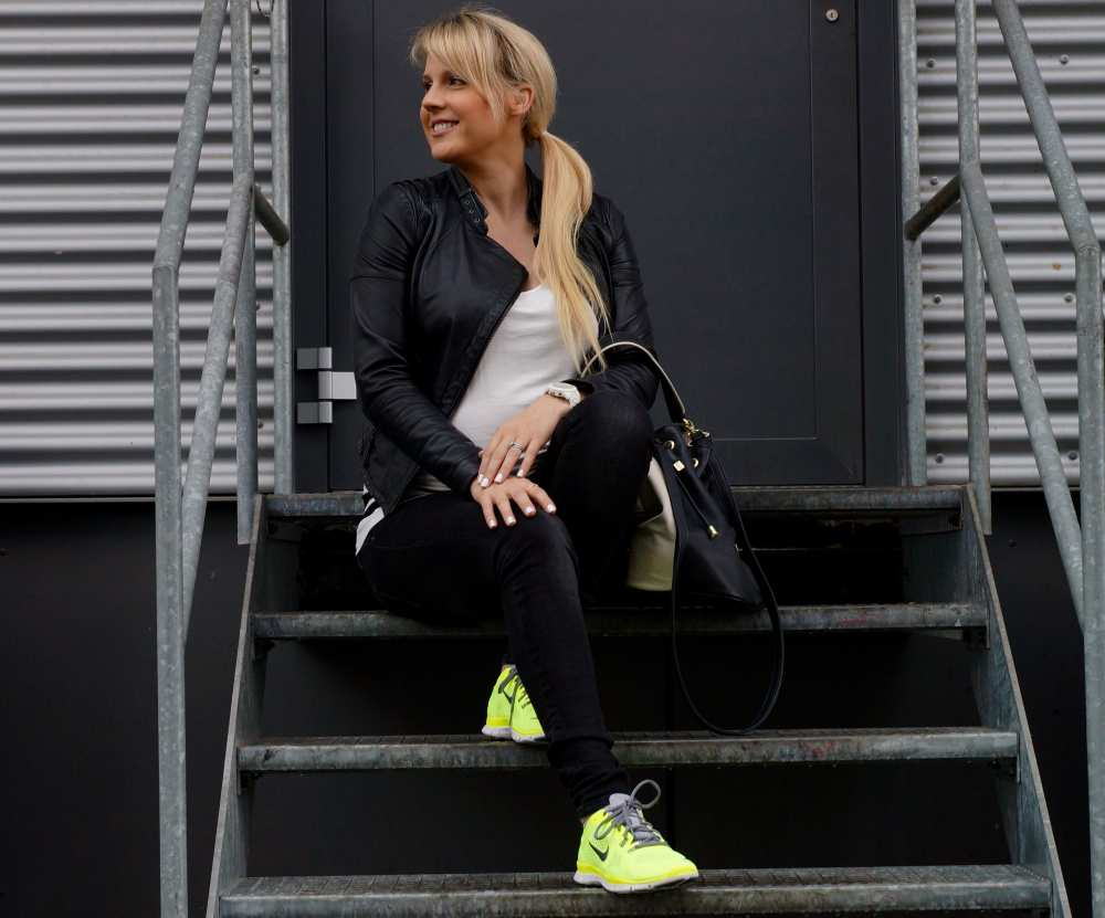 Dale Janee Savvy Spice Neon Nike shoes