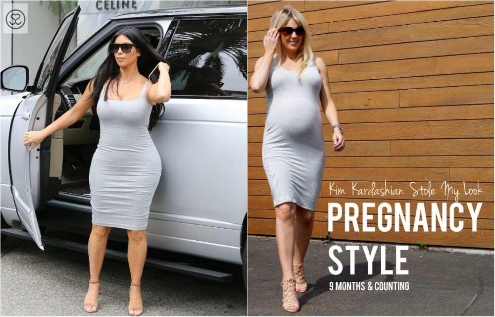 NEW Cover photo Savvy SPice Kim Kardashian grey dress