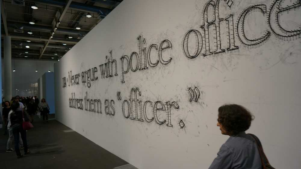 Never Argue with a police officer Art Basel