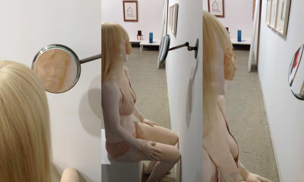 Savvy Spice girl sculpure wig Art Basel Switzerland
