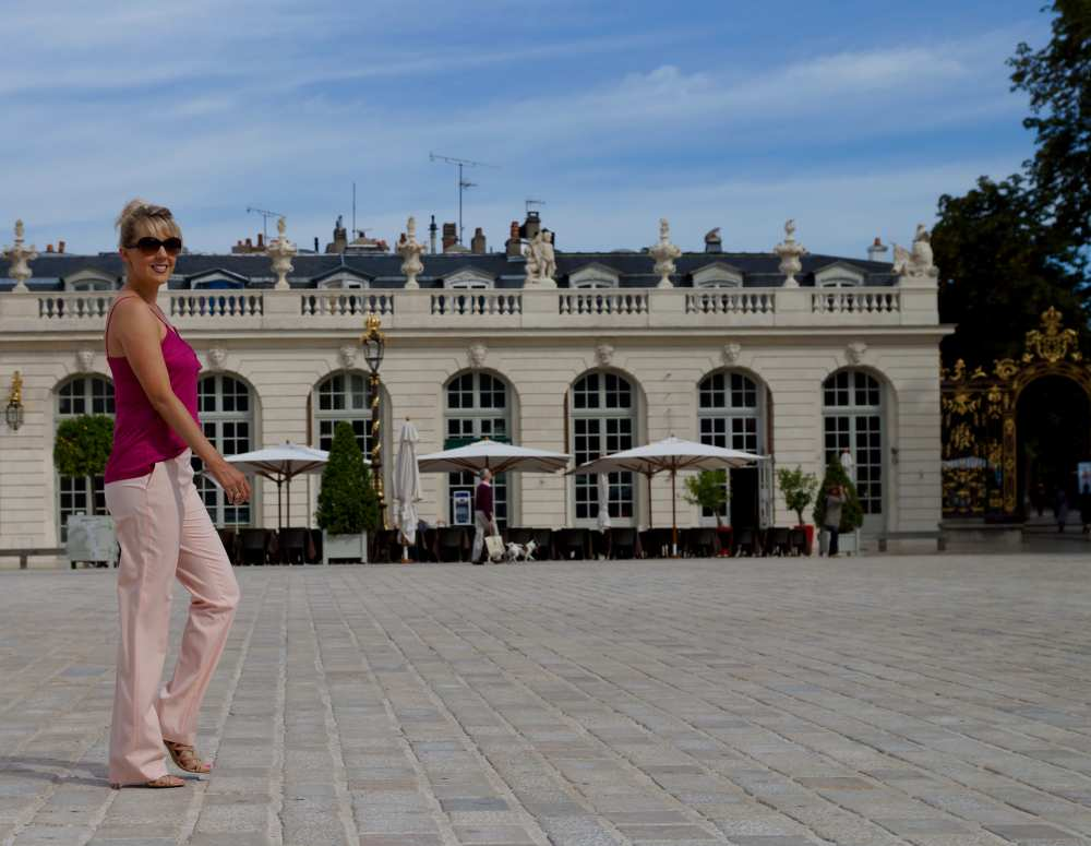 Savvy Spice Nancy France all pink blush outfit