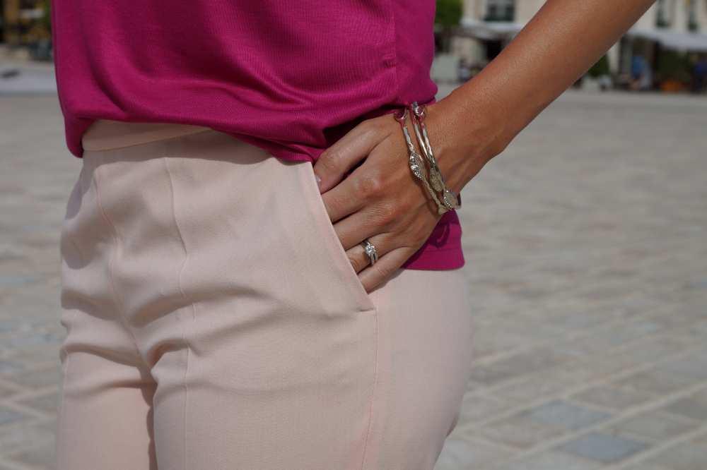 blush pants Zara pink outfit