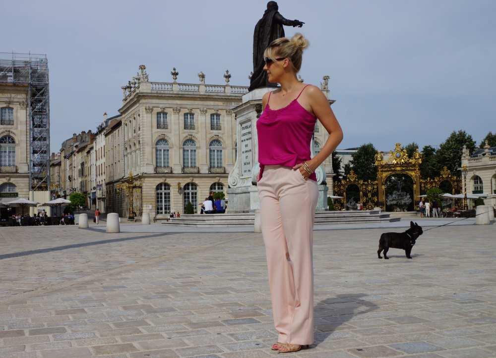 light pink pants Zara blush