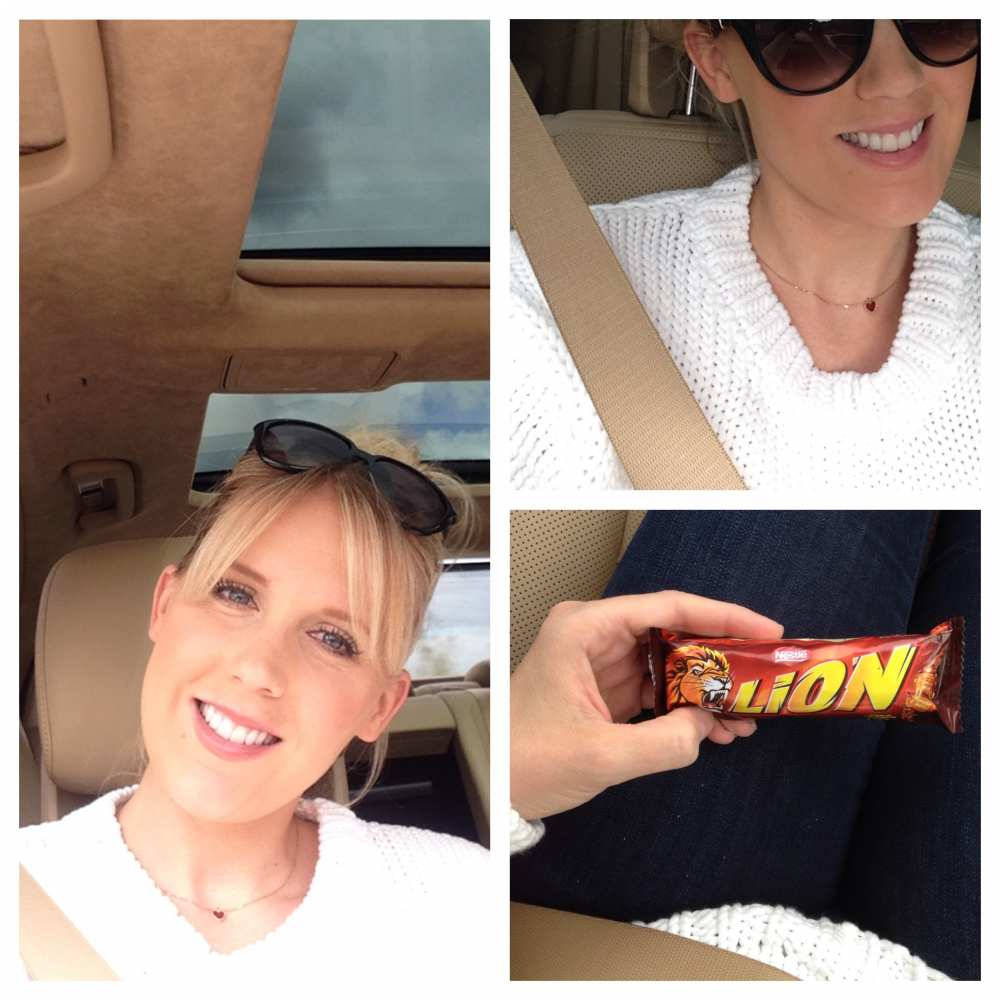 Savvy Spice fashion blog driving in Germany Lion Candy bar