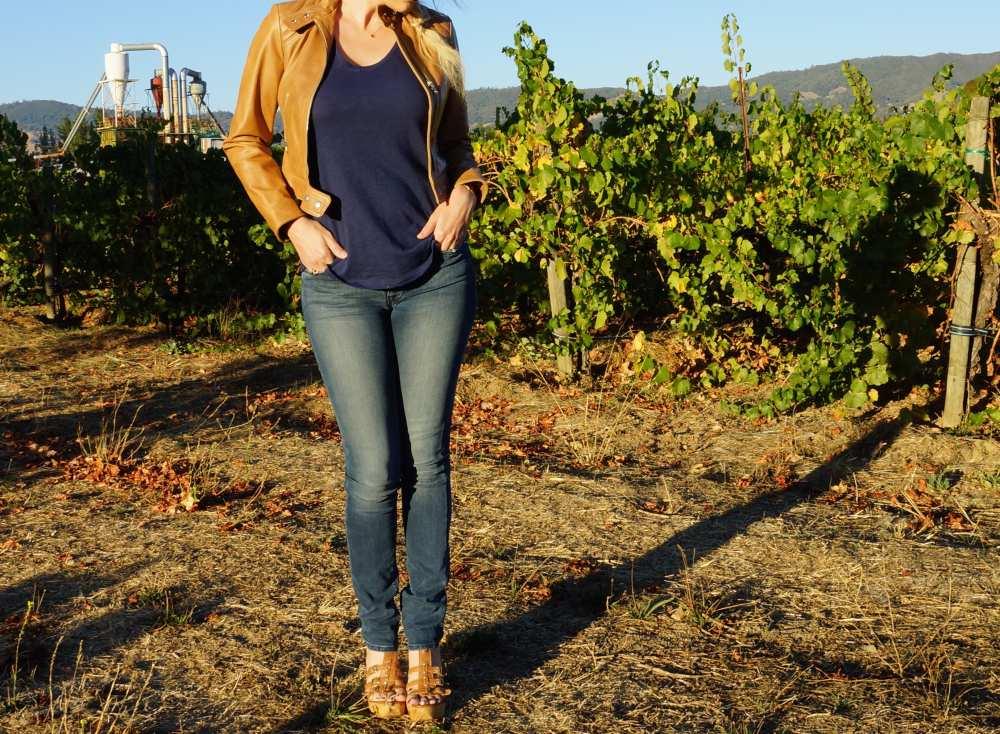Hudson-jeans-brown-leather-Steve-Madden-heels