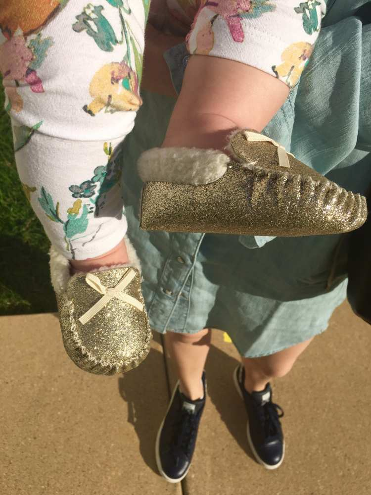 Baby-glitter-loafers-floral-leggings