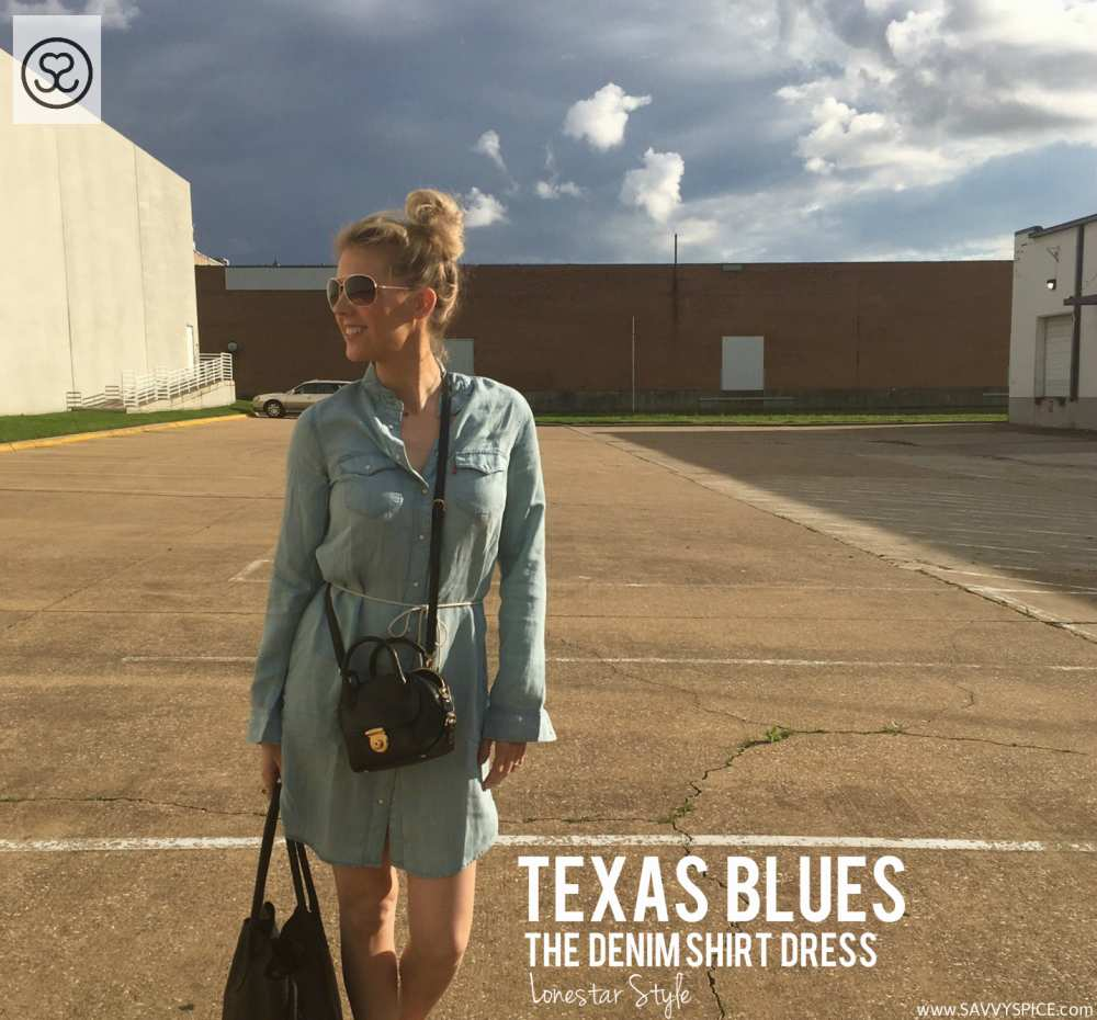 Texas Style Denim Dress Savvy Spice