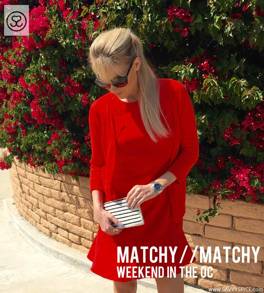 Matchy Red dress Orange County