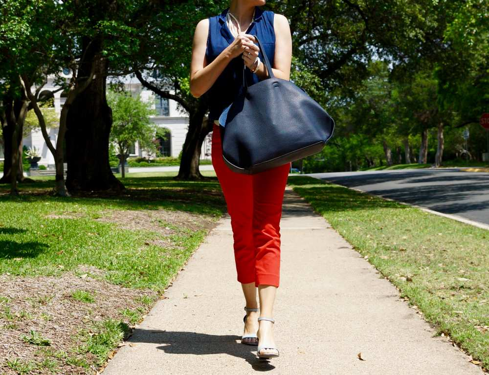 Red HM pants Savvy Spice Dallas