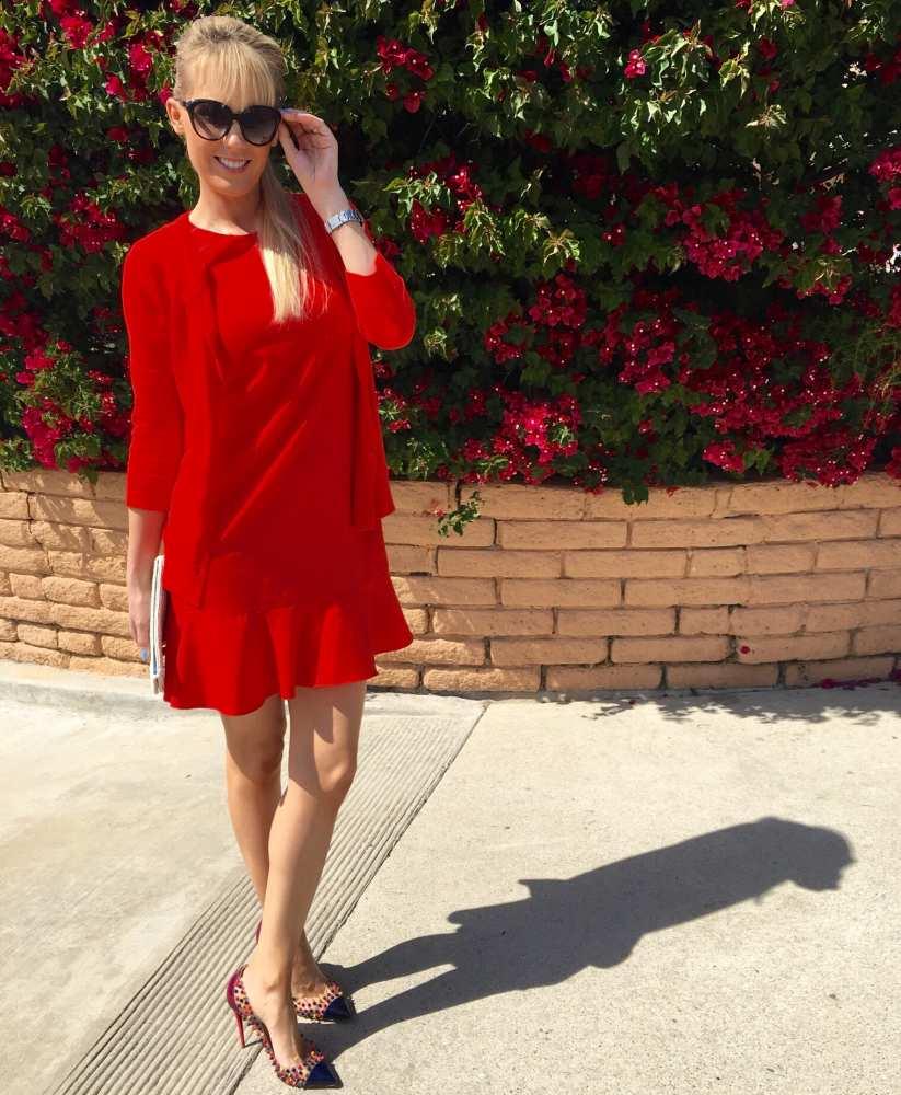 Savvy Spice red dress travel