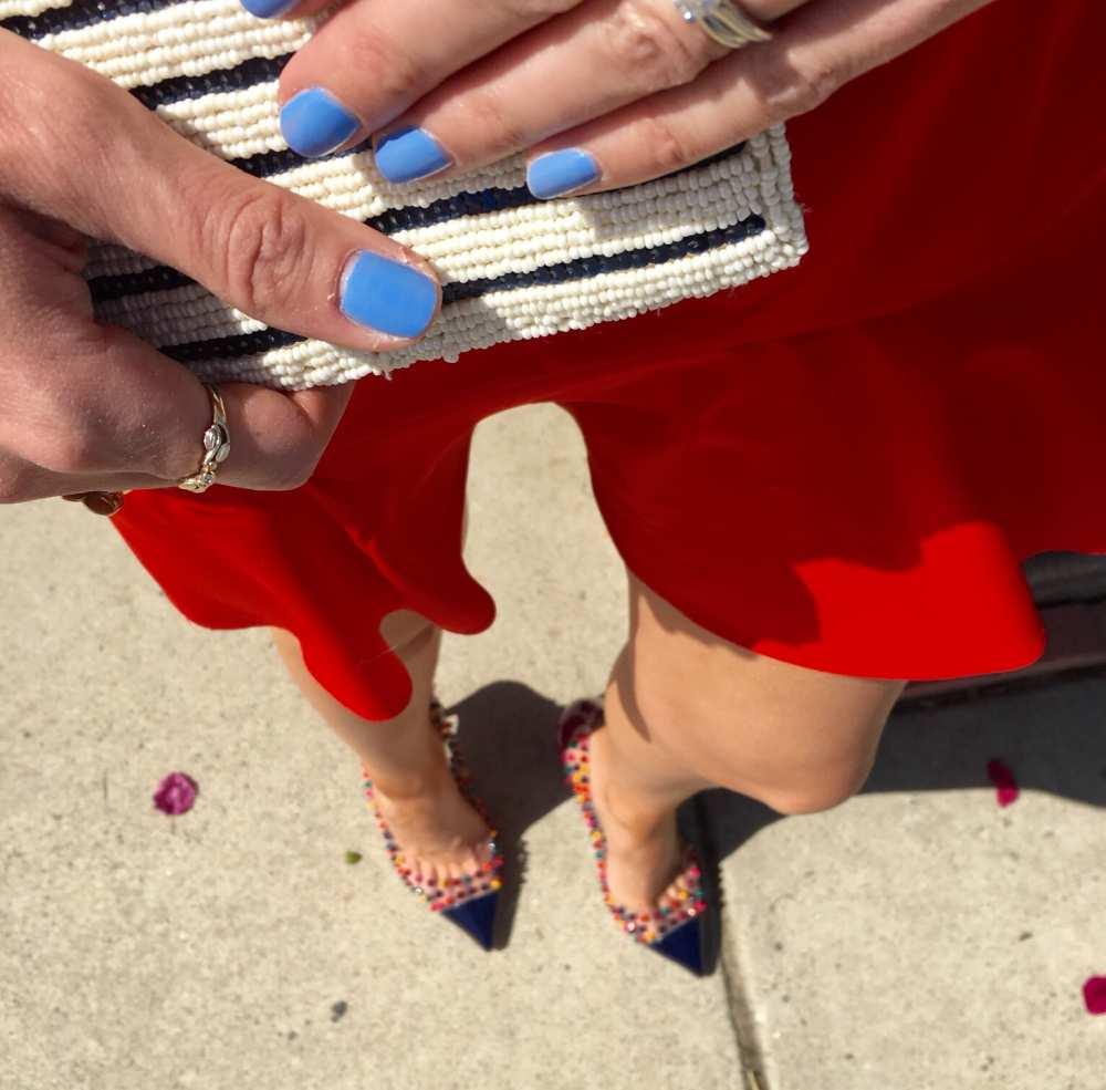Striped clutch purse beaded purse