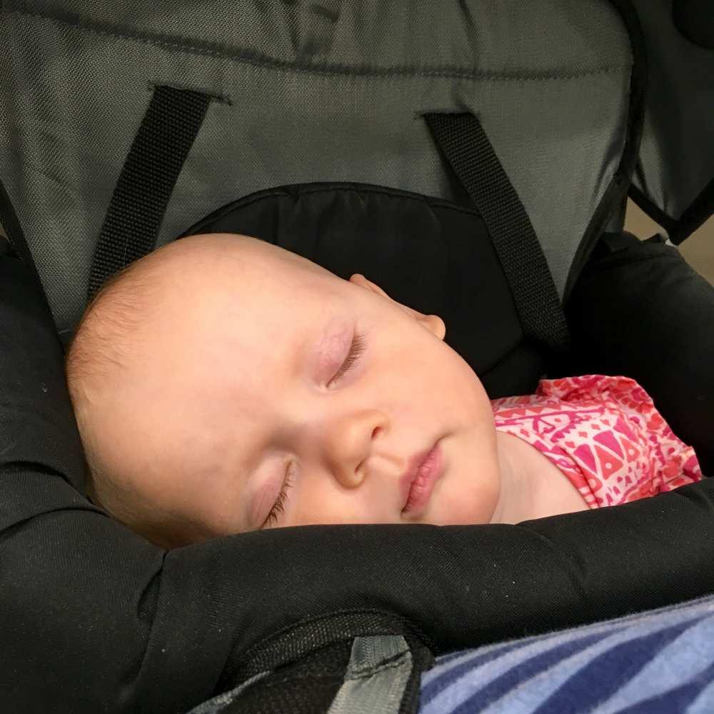Wilhelmina sleeping baby