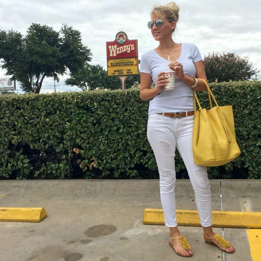 white armani jeans Adora bag