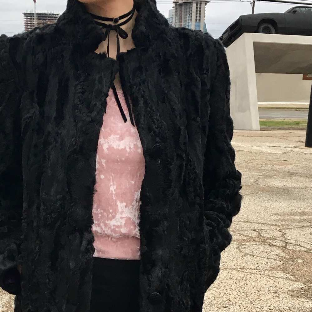 black vintage coat Dallas
