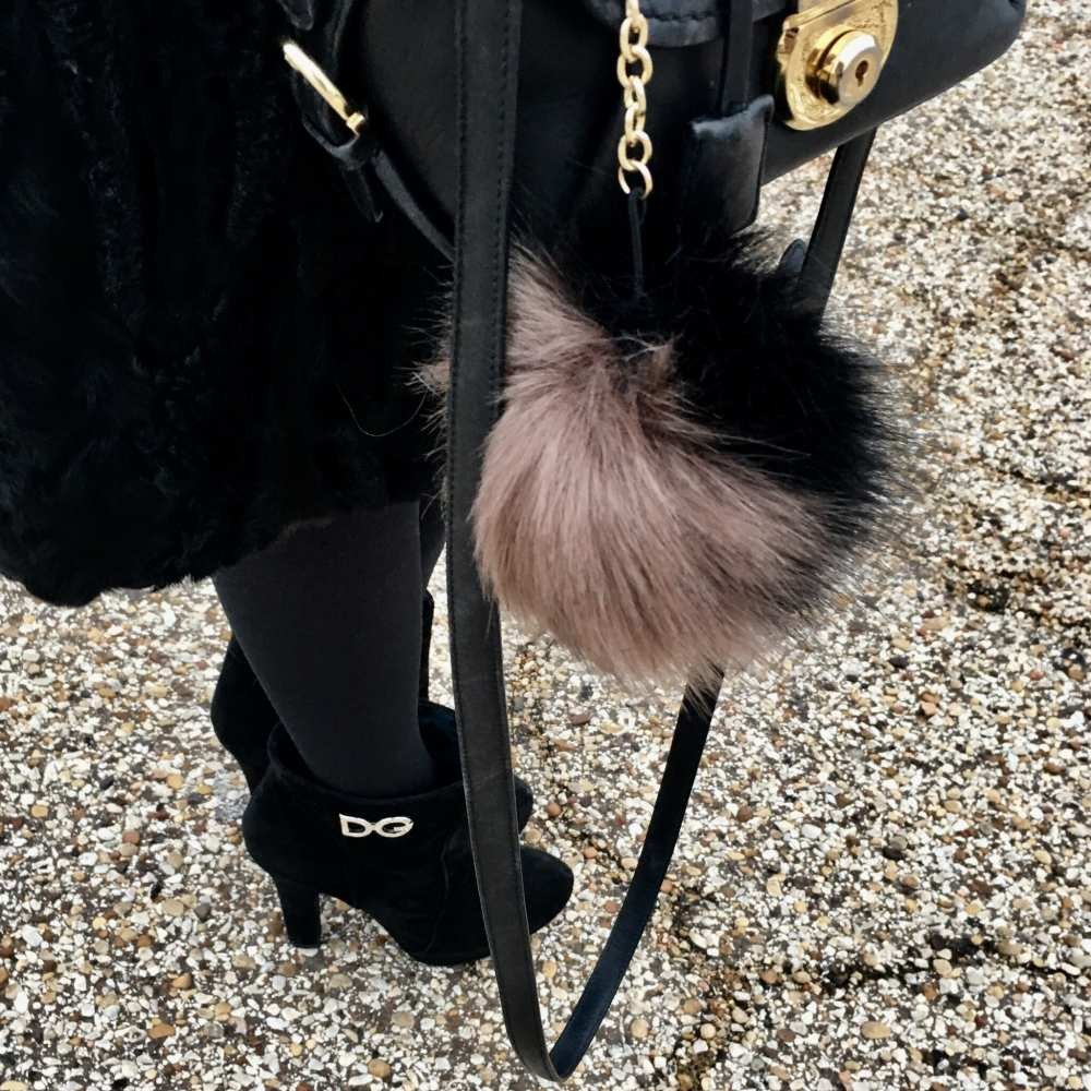 fur ball for purse
