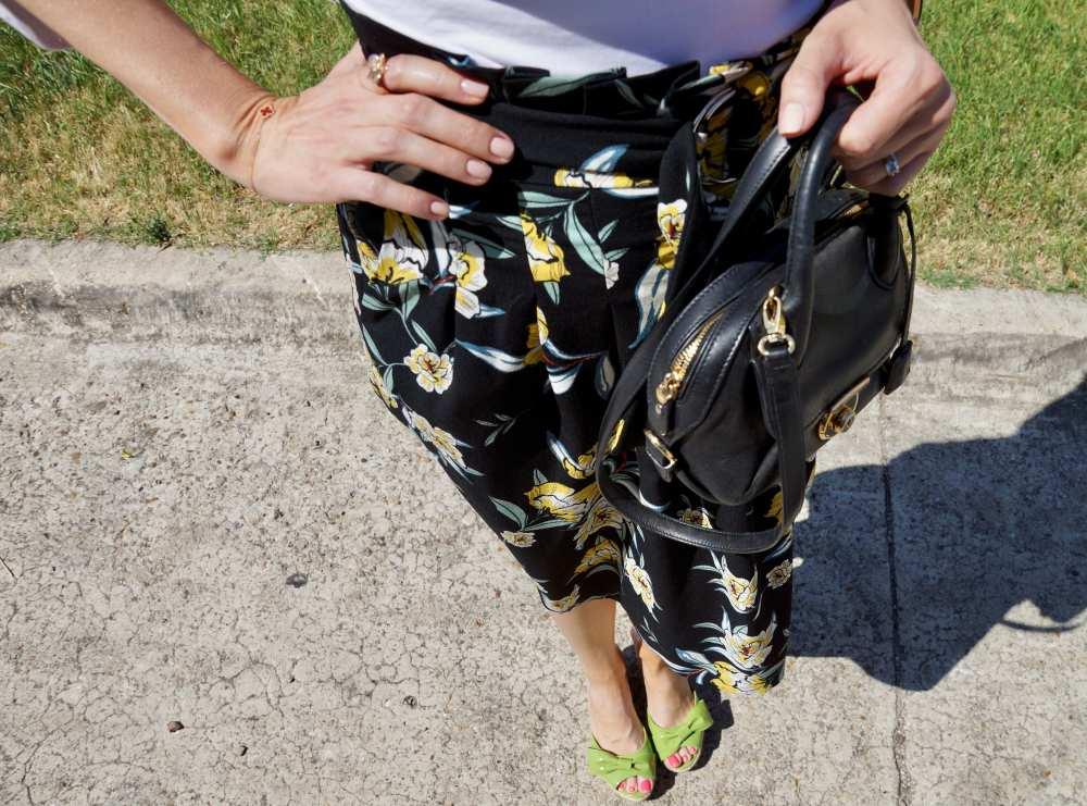 Savvy Spice floral Zara skirt