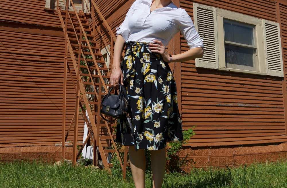 high waisted skirt Savvy Spice Zara