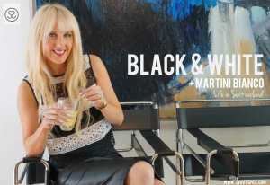 Black, White & Martini Bianco