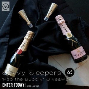 Savvy Sleepers 'Pop the Bubbly' Champagne Giveaway!