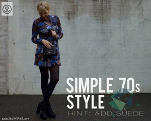 Simple 70's Style. Hint: Just Add Suede